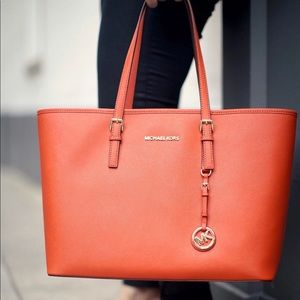 Micheal Kors Orange Tote Bag